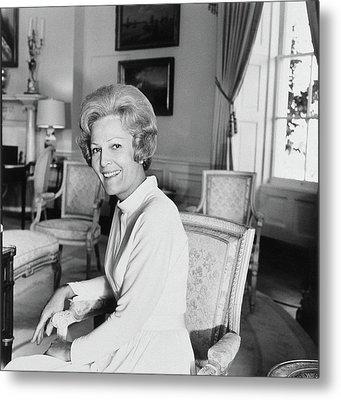 Pat Nixon In The White House Metal Print
