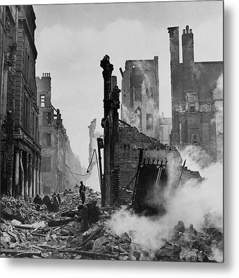 Paternoster Row After Bombing Metal Print by Cecil Beaton