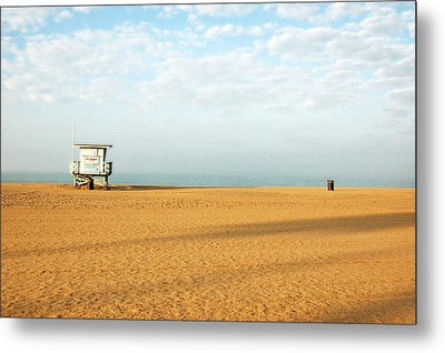 Pch Lifegaurd Station Metal Print by Ari Jacobs