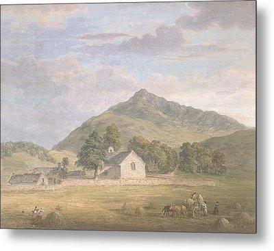 Haymaking At Dolwyddelan Metal Print by Paul Sandby