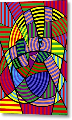 Metal Print featuring the digital art Peace 4 Of 12 by Randall Henrie
