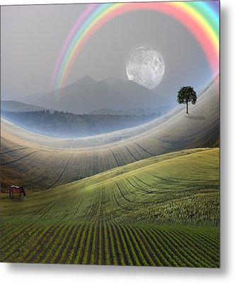 Metal Print featuring the digital art Peaceful Landscape  by Bruce Rolff