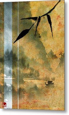 Peaceful River Design Metal Print by Sean Seal