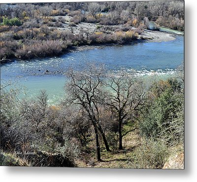 Peaceful River Metal Print by Lula Adams