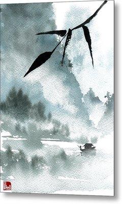 Peaceful River Metal Print by Sean Seal