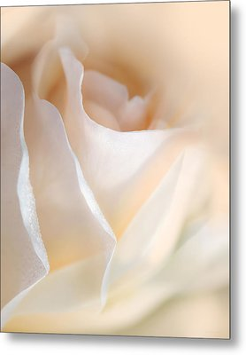 Peaches And Cream Rose Flower Metal Print by Jennie Marie Schell