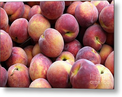 Peachy Metal Print by Denise Pohl