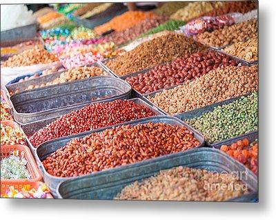 Peanuts At Local Market - Xinjiang - China Metal Print