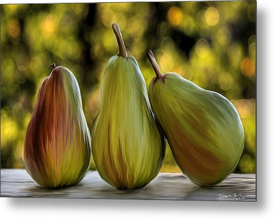 Pear Buddies Metal Print by Sharon Beth