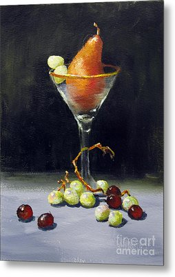 Metal Print featuring the painting Pear Martini by Carol Hart