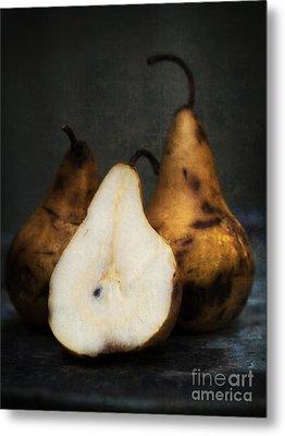 Pear Still Life Metal Print by Edward Fielding