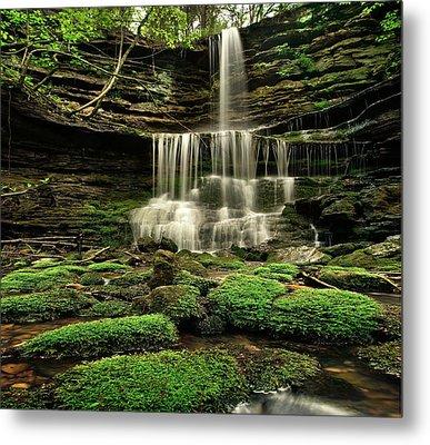 Pearly Creek Falls Near Buffalo River Metal Print