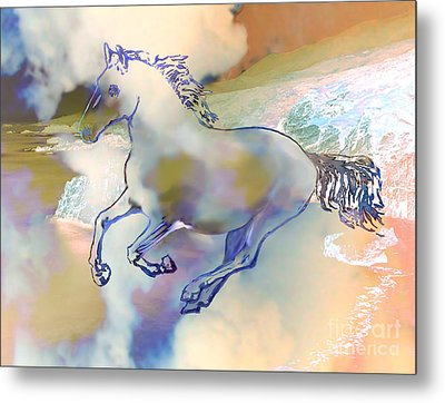 Pegasus Metal Print by Ursula Freer