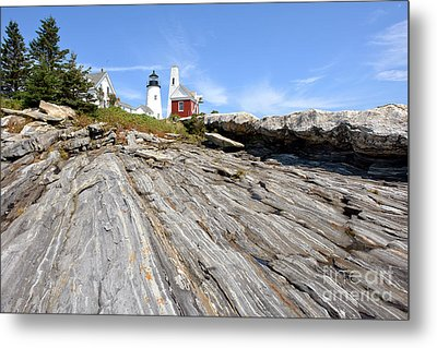 Pemaquid Point Lighthouse In Maine Metal Print by Olivier Le Queinec