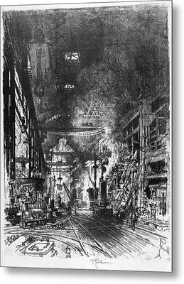 Pennell Furnaces, 1916 Metal Print