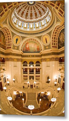 Pennsylvania State Capitol Dome And Rotunda Metal Print by Frank Tozier