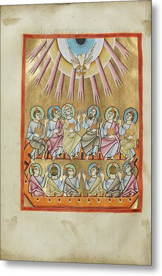 Pentecost Unknown Regensburg, Bavaria, Germany Metal Print by Litz Collection