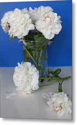 Metal Print featuring the photograph Peonies 1 by Margaret Newcomb