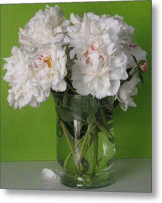 Metal Print featuring the photograph Peonies 2 by Margaret Newcomb