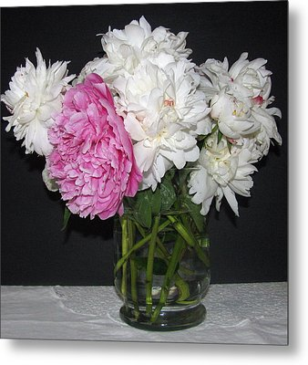 Metal Print featuring the photograph Peonies Bouquet 4 by Margaret Newcomb