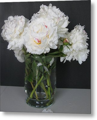 Metal Print featuring the photograph Peonies Bouquet 6 by Margaret Newcomb