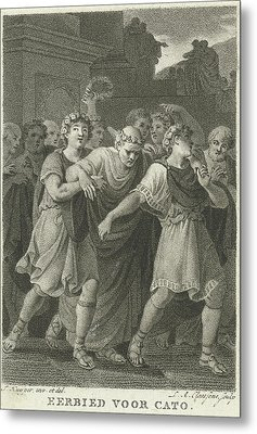 People Go To The Feast In Honor Of Cato, Print Maker Metal Print