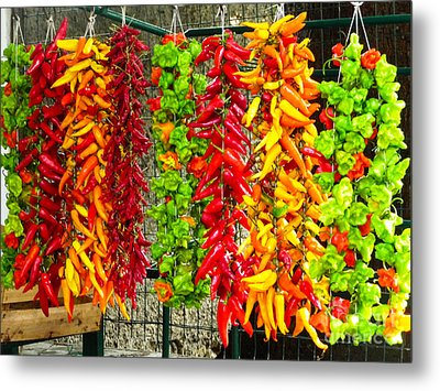 Metal Print featuring the photograph Peppers For Sale by Mike Ste Marie
