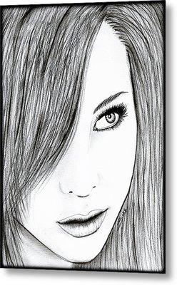 Perfect Beauty Metal Print by Saki Art