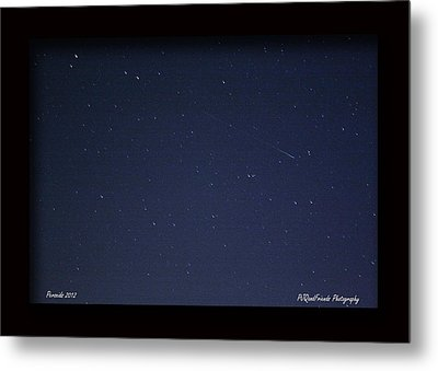 Perseid Meteor Metal Print by PJQandFriends Photography