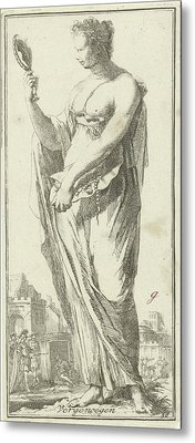 Personification Of Satisfaction, Arnold Houbraken Metal Print by Arnold Houbraken