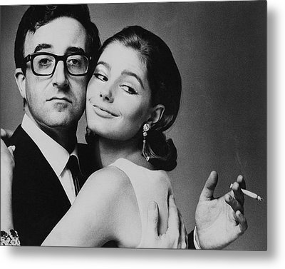 Peter Sellers Posing With A Model Metal Print by Jereme Ducrot