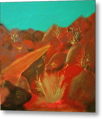 Metal Print featuring the painting Petroglyph Park by Keith Thue