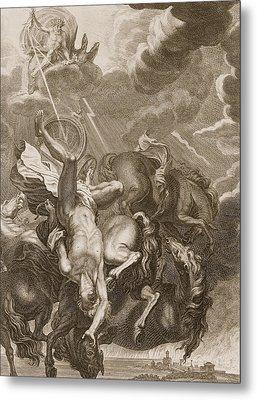 Phaeton Struck Down By Jupiter's Thunderbolt Metal Print