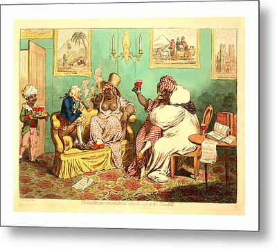 Philanthropic Consolations, After The Loss Metal Print by English School