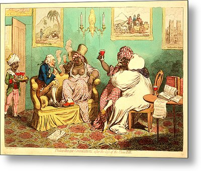 Philanthropic Consolations, After The Loss Metal Print by Litz Collection