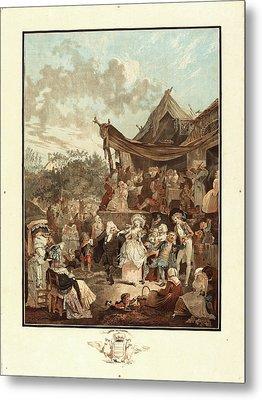 Philibert-louis Debucourt, French 1755-1832, Le Menuet De Metal Print