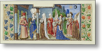 Philosophy Presenting The Seven Liberal Arts To Boethius Metal Print by Litz Collection