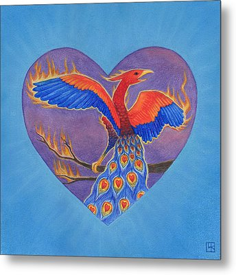 Phoenix Metal Print by Lisa Kretchman