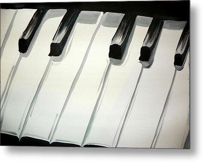 Piano Keys Metal Print by Marisela Mungia