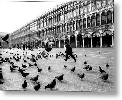 Piazza San Marco Venice Italy 1998 Metal Print by Heidi Wild