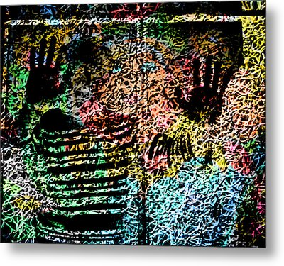 Metal Print featuring the digital art Picasso by David Blank