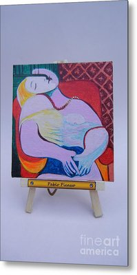 Metal Print featuring the painting Picasso by Diana Bursztein