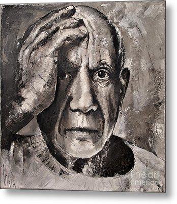 Portrait Of Pablo Picasso Metal Print