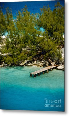 Picturesque Dock Nassau Bahamas Metal Print by Amy Cicconi