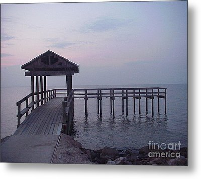 Pier Early Morning 1 Metal Print by D Wallace