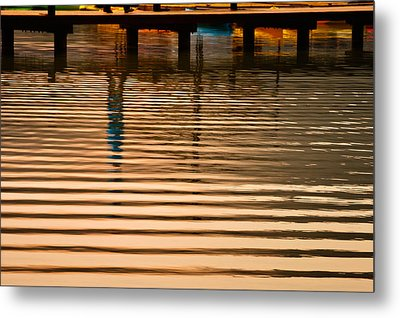 Pier Walk Metal Print by Joan Herwig