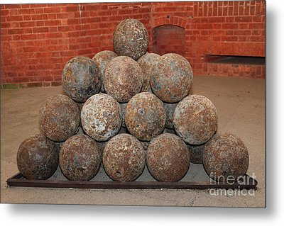 Pile Of Cannon At San Francisco Fort Point 5d21493 Metal Print by Wingsdomain Art and Photography
