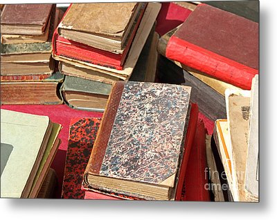 Piles Of Old Books Metal Print by Kiril Stanchev