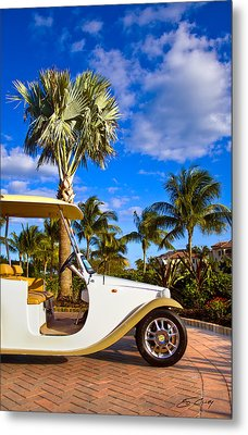 Pimp My Golf Cart Metal Print
