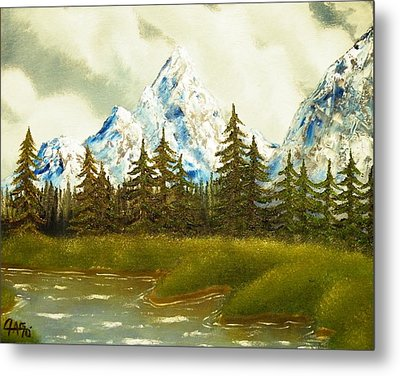 Metal Print featuring the painting Pine Mountain River by The GYPSY And DEBBIE